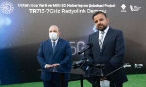 Mustafa Varank Milli 5G Haberleşme Şebekesi Projesi TR713-7GHz Radyolink Demosu Programına katıldı.