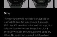 Huawei Watch GT2 Pro için global seviyede popüler olan Fitify uygulaması yayınlandı.