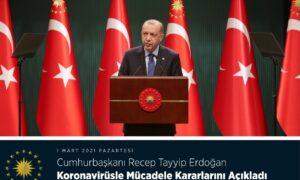 Cumhurbaşkanı Recep Tayyip Erdoğan Koronavirüsle Mücadele Kararlarını Açıkladı!