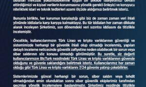 Btcturk Koin Borsası Kullanıcı Verileri Hakkında son dakika açıklaması.!